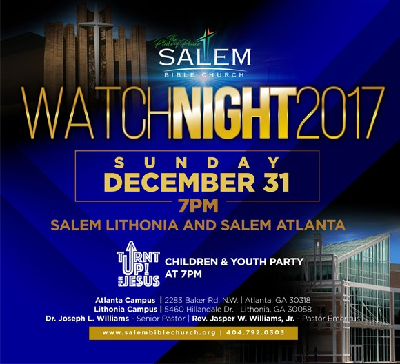 Church Calendar Design.Watch Night 2017 Salem Bible Church